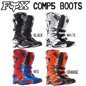 〔FOX〕 コンプ5ブーツ COMP5 モトクロス オフロード MX フォックス バイク用品 オフ車 林道 モタード|cycle-world