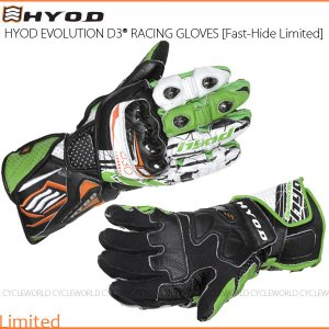 数量限定品〔HYOD〕HRG101DNL 《SHARK-GREEN》 EVOLUTION D3O RACING GLOVES [Fast-Hide Limited] レーシンググローブ レース|cycle-world