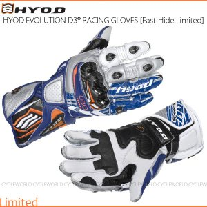 数量限定品《あすつく》〔HYOD〕HRG101DNL 《FACTORY-BLUE》 EVOLUTION D3O RACING GLOVES [Fast-Hide Limited] レーシンググローブ レース|cycle-world