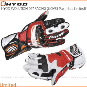 数量限定品《あすつく》〔HYOD〕HRG101DNL 《VICTORY-RED》 EVOLUTION D3O RACING GLOVES [Fast-Hide Limited] レーシンググローブ レース|cycle-world