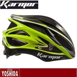 (22日はクーポンで最大1010円OFF)カーマー(KARMOR) ASMA2(アスマ2)<ブラック+ライトグリーン> ヘルメット|cycle-yoshida