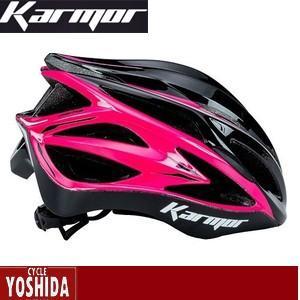 (22日はクーポンで最大1010円OFF)カーマー(KARMOR) ASMA2(アスマ2)<ブラック+ピンク> ヘルメット|cycle-yoshida