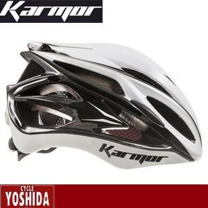 (22日はクーポンで最大1010円OFF)カーマー(KARMOR) ASMA2(アスマ2)<ホワイト+ブラック> ヘルメット|cycle-yoshida
