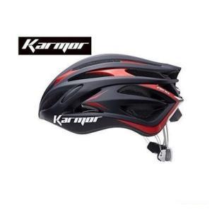 (22日はクーポンで最大1010円OFF)カーマー(KARMOR) FEROX2(フェロックス2)<ブラック/レッド> ヘルメット Boa搭載|cycle-yoshida
