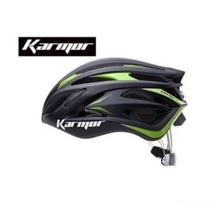 (22日はクーポンで最大1010円OFF)カーマー(KARMOR) FEROX2(フェロックス2)<ブラック/グリーン> ヘルメット Boa搭載|cycle-yoshida