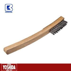 (27日までクーポンで最大1000円OFF)クロダブラシ 反柄 ワイヤーブラシ 3行|cycle-yoshida