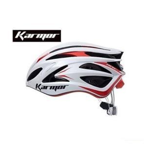 (22日はクーポンで最大1010円OFF)カーマー(KARMOR) FEROX2(フェロックス2)<ホワイト/レッド> ヘルメット Boa搭載|cycle-yoshida