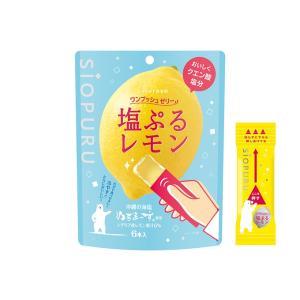 (春の応援セール)井村屋(いむらや) ワンプッシュゼリー 塩ぷるレモン 1袋(6本入)
