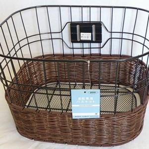 【店舗受け取りで送料無料】アサヒサイクル Pine 籐風バスケット 黒〔18363〕|cyclemarket