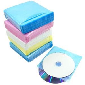 CD DVD ケース 不織布 2枚 両面 収納 ファイリング 2穴付き 300枚