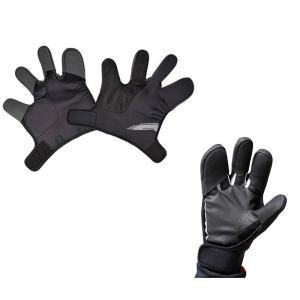 グローブの上から簡単に装着OK。指先の防寒に最適。  性能 ・高い保温性能と伸縮性に優れたネオプレー...
