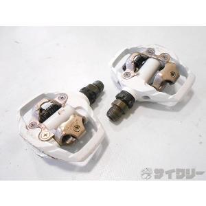 ペダル ビンディングペダル シマノ ビンディングペダル PD-M530 ホワイト SPD対応 - 中...