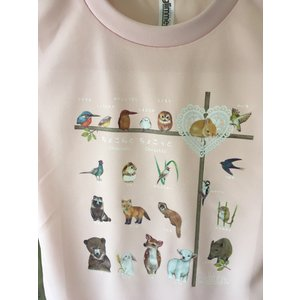 アニマル(動物)Tシャツピンク 大人男女共通Sサイズ(吸汗速乾ドライTシャツ4.4オンス)|cyoimaru