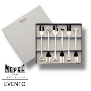 MEPRA EVENTO ケーキフォーク6本ギフトセット【正規販売代理店】 d-aletta-ys