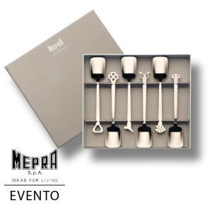 MEPRA EVENTO アイスクリームプーン6本ギフトセット【正規販売代理店】 d-aletta-ys