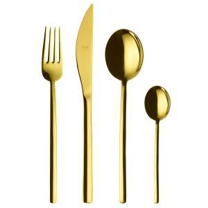 MEPRA DUE ドゥエ オロ テーブル4ピースセット / PVDチタンコーティング ゴールド【正規販売代理店】|d-aletta-ys