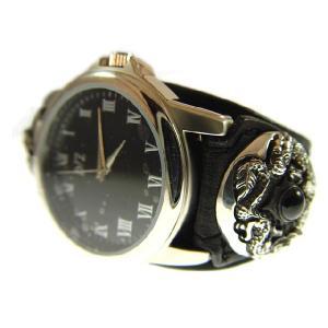 ブレスウォッチ ドラゴンシルバーコンチョ 革腕時計 d-bijin