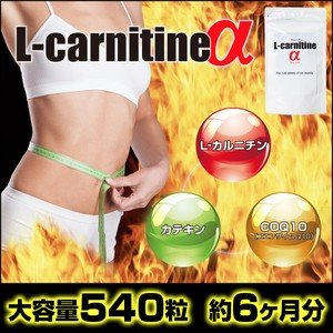 L-carnitineα(L-カルニチンα) (大容量約6か月分) ダイエットサプリ|d-bijin