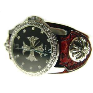 『DEEPZONE』 レッドパイソンレザー ブレスウォッチ 腕時計 d-bijin