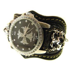 送料無料・ブレスウォッチ 腕時計 ブラッククロコダイルブラックベルト d-bijin