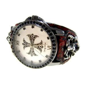 DeepZone レッドパイソンレザーブレスウォッチ 腕時計 d-bijin