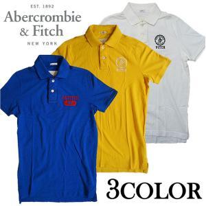 Abercrombie&Fich アバクロンビー&フィッチ 半袖ポロシャツ 正規 本物 刺繍 ワッペ...