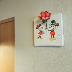 【花瓶になるアート】ミッキー&ミニー 花瓶アート