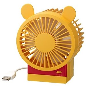 2段風量/角度調整付USBファン Disney プーさん  9ZF008MC CITIZEN/リズム時計工業株式会社|d-eight