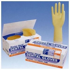 ドクターハンド デンタル(歯科用手袋 左右別・立体グローブ パウダーフリー) / 7.5サイズ / 1箱(25双入り)|d-fit