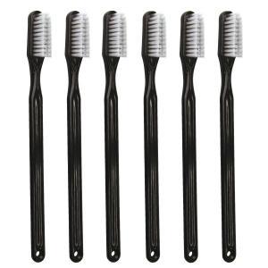 PHB 歯ブラシ アダルト ブラック 6本入り(メール便4点まで)|d-fit