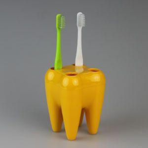 歯型歯ブラシスタンド(イエロー) ポイント消化|d-fit