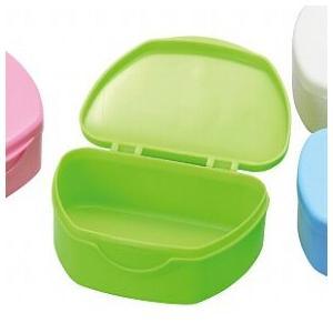 抗菌加工入れ歯ケース小 10個 グリーン(国産) ポイント消化|d-fit