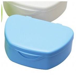 抗菌加工入れ歯ケース小 10個 ブルー(国産) ポイント消化|d-fit