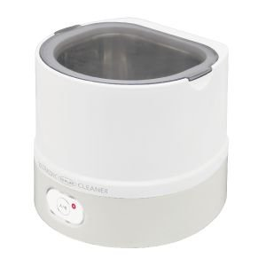 超音波入れ歯洗浄器 ホワイト 1台|d-fit