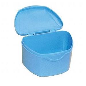 抗菌加工入れ歯ケース大 10個 ブルー(国産) ポイント消化|d-fit