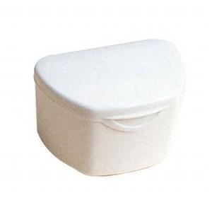 抗菌加工入れ歯ケース大 10個アイボリー(国産) ポイント消化|d-fit