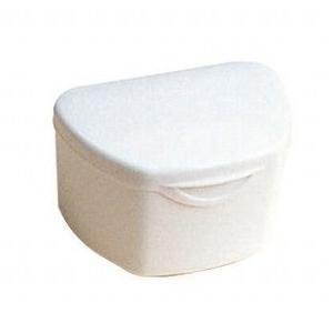 抗菌加工入れ歯ケース大 1個アイボリー(国産) ポイント消化|d-fit