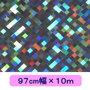 ホログラムシート チェッカー シルバー 97cm幅×10m ロール|d-form-holo