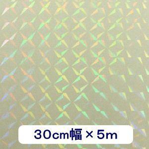 透明 ホログラムシート 1/4プリズム 30cm幅×5m ロール|d-form-holo
