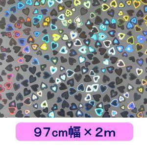 ホログラムシート ハート(シルバー) 97cm幅×2m ロール|d-form-holo