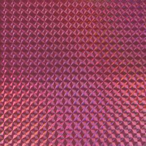 ホログラムシート 1/4プリズム(ローズピンク)【ホログラムシール】|d-form-holo