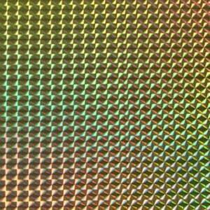 ホログラムシート 1/4プリズム(ゴールド)【ホログラムシール】|d-form-holo