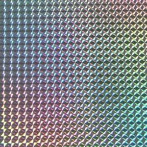 ホログラムシート 1/4プリズム(シルバー)【ホログラムシール】|d-form-holo