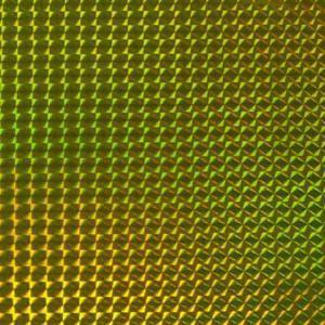 ホログラムシート 1/4プリズム(イエロー)【ホログラムシール】|d-form-holo