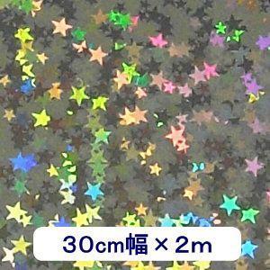 ホログラムシート リトルスター(シルバー) 30cm幅×2m ロール|d-form-holo