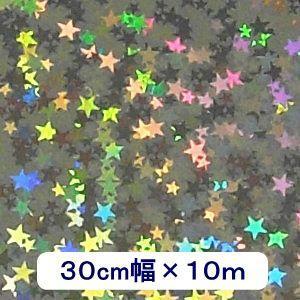 ホログラムシート リトルスター(シルバー) 30cm幅×10m ロール|d-form-holo