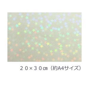 透明ホログラムシート マイクロスター 20cm×30cm(約A4サイズ)|d-inform
