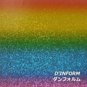 グリッターペーパー/厚紙タイプ(レインボー/七色 虹)|d-inform