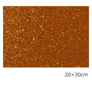 送料無料 グリッターシート/シールタイプ キャメルオレンジ  20cm×30cm(約A4サイズ)|d-inform