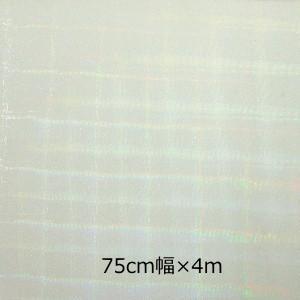 透明 ホログラムシート  ビットスクエアー(無色) 75cm幅×4m ロール|d-inform